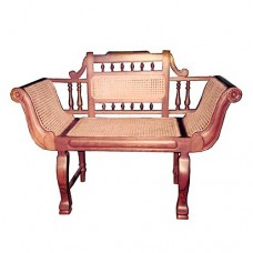 Single Seater Sofa With Turned Wooden Legs