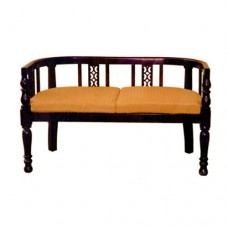 Two-Seater Sofa With Slats Decoration