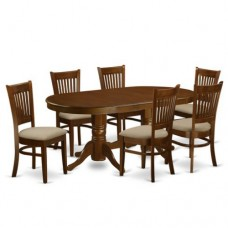 6 Seater Oval Twin Pedestal Dining Set