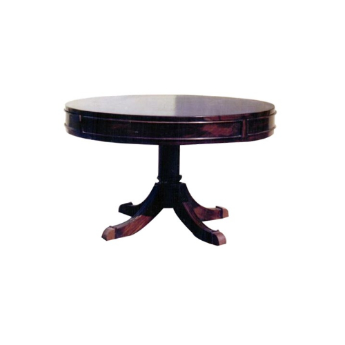 Round Dining Table With Turned Pillar Base On Four-Pronged Bottom Rest