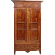 Two Door Armoire With Chest And Shelves